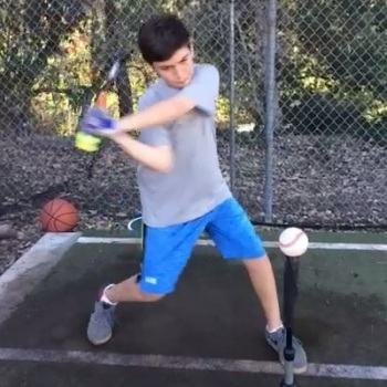 What I Saw On Video Was You See In These Two Frames Of A Hitter Using The Sledge Bat Which Is Type Heavy That Targeted At Kids