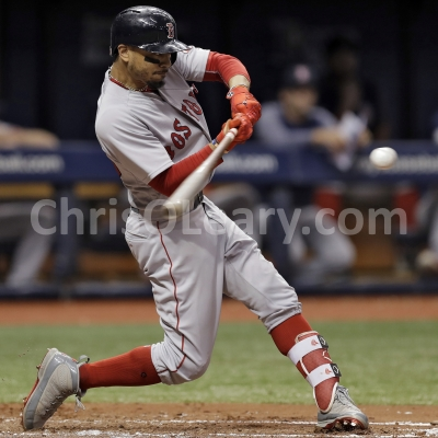 Mookie Betts Home Run Swing